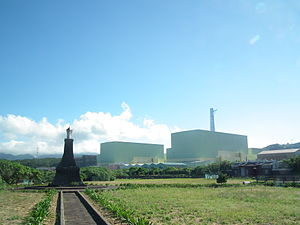 Nuclear power in Taiwan - Lungmen Nuclear Power Plant in Fulong Beach, Gongliao, New Taipei.