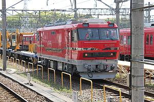 Meitetsu Class EL120 - Locomotive 122 in April 2015