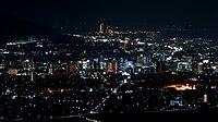和歌山市の夜景:六十谷(園部)の裏山・岩神山展望所にて - panoramio.jpg