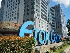 Eton Centris - Image: 01763jf Quezon Avenue Shell Jollibee MRT Stations NIA Road Eton Centris EDSA roadfvf 12