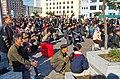 0915 - Nordkorea 2015 - Pjöngjang - Public Viewing am Bahnhofsplatz (22585018169).jpg