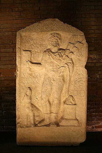 Silvanus (mythology) - Altar decorated with a bas-relief depicting the god Sylvanus Capitoline Museums in Rome.