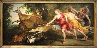 Deer hunting - Image: 0 Diane chasseresse et ses nymphes Pierre Paul Rubens (1)