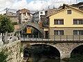104 La Pobla de Lillet, pont del Magret, al fons el pont Vell.jpg
