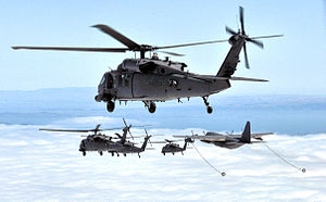 129th Rescue Wing - California Air National Guard, HH-60 Pave Hawks, MC-130P Combat Shadows and members of the 129th Rescue Wing, conduct aircraft formation training over Northern California.
