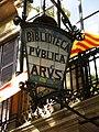 140 Biblioteca Pública Arús, passeig de Sant Joan 26 (Barcelona), fanal.jpg