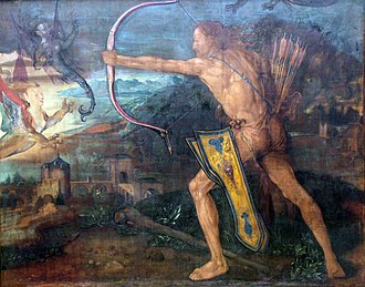Stymphalian birds - Image: 1500 Duerer Herkules im Kampf gegen die stymphalischen Voegel anagoria