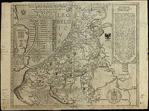 Leo Belgicus - Image: 1583 Leo Belgicus Hogenberg