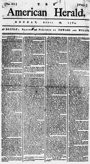 <i>American Herald</i> newspaper in Worcester, Massachusetts