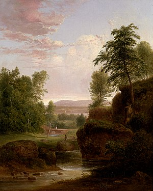 Thomas Doughty (artist) - Image: 1839, Doughty, Thomas, View toward the Hudson River
