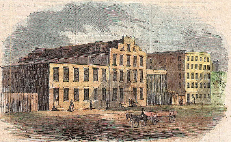 File:1862 Harper's Weekly Civil War View of Richmond, Virginia - Geographicus - Richmond-harpersweekly-1862 part03 Rebels Prison.jpg