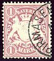 1885subissue Bayern 1Mk Pirmasens Mi53xa.jpg