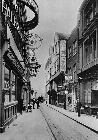 Opera Comique - A 1901 postcard of Wych Street, shortly before its demolition