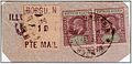 1905 Borgu 1d local stamp with stamps of Northern Nigeria used on piece via Zungeru.jpg