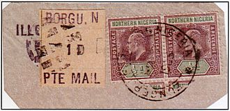 Borgu - British colonial stamps for the Northern Nigeria Protectorate used at Borgu and Zungeru