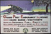 A poster for the 1923 24 Hours of Le Mans.