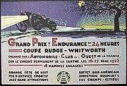 Le Mans 1923 poster.