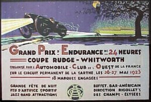 24 Hours of Le Mans - A poster for the 1923 24 Hours of Le Mans