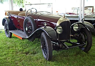 Bentley 3 Litre car chassis manufactured by Bentley