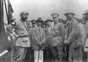 1927年冯玉祥与蒋介石会面