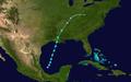 1932 Atlantic tropical storm 6 track.png