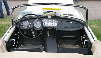 Daimler SP250 - Interior of left hand drive 1961 SP250