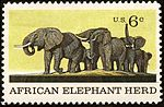 1970 issue African Elephant US stamp 6c.jpg