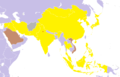 1982 Asian Games medal map.png