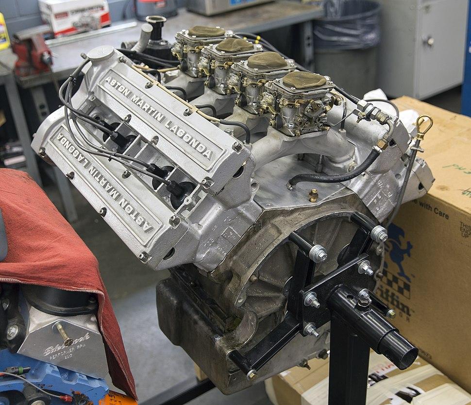 1986 Aston Martin V580 engine from the rear