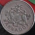 1998 Barbados Silver 25 cents (5645626497).jpg