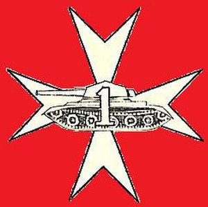 1st Armoured Regiment (Poland) - Badge of the 1st Polish Armoured Regiment under the 1st Polish Armoured Division in World War II.