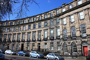 William Blackwood - 1 to 7 Ainslie Place, Edinburgh. No 3 was the home of William Blackwood