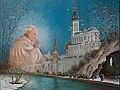 1er mai 2011-Béatification du Pape Jean-Paul II -( Lourdes. La Grotte de Massabielle) par Raphaël Toussaint. Français.jpg