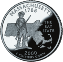 Massachusetts quarter dollar coin