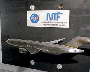 National Transonic Facility (Hampton, Virginia) - Image: 2001 Boeing 777 Test NTF