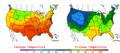 2005-09-19 Color Max-min Temperature Map NOAA.png