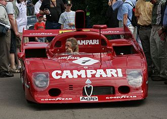 Alfa Romeo Tipo 33 - Arturo Merzario at the wheel of 1975 Alfa Romeo 33 TT 12 at the 2006 Goodwood Festival of Speed.
