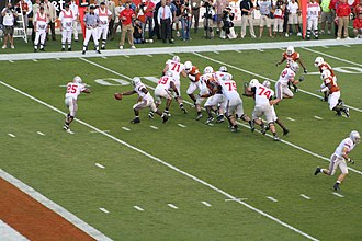 Troy Smith - Ohio State's Troy Smith hands off to Antonio Pittman vs the Texas Longhorns