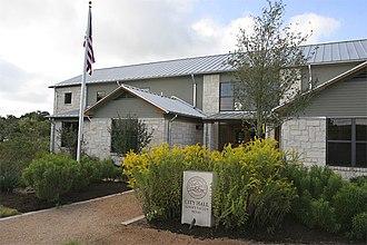 Sunset Valley, Texas - Image: 2007.09.26 cityhall closeup