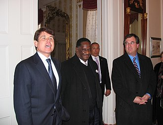 Emil Jones - Image: 20070210 Blagojevich, Jones and Schoenberg