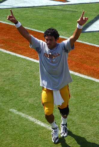 Mark Sanchez - Sanchez runs off the field after pregame warm-ups before the 2008 season opener at Virginia