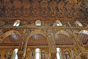 Arab-Norman Palermo and the Cathedral Churches of Cefalù and Monreale - Image: 2008 10 19 Palermo Capella Seitenschiff