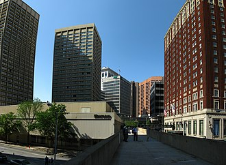Radisson Hotel Baltimore Downtown-Inner Harbor - The two towers of the hotel
