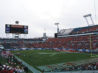 2008 Clemson Tigers football team - The game in the fourth quarter.