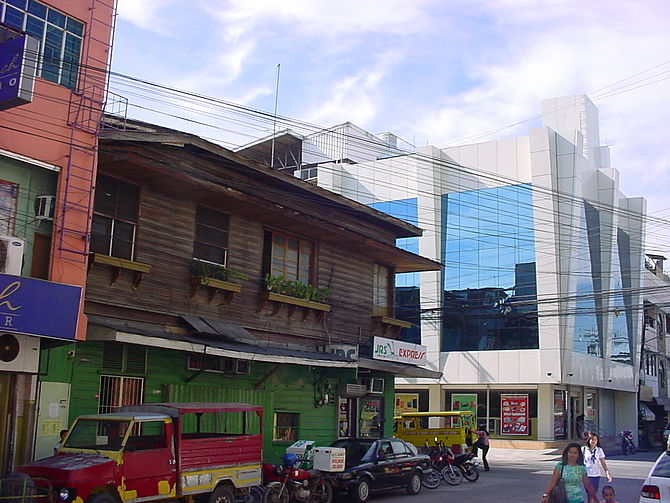 English: Old and new in the city of Iligan, Mi...