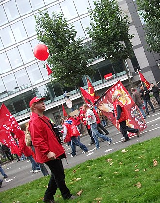 General Federation of Belgian Labour - Image: 2010 Bruxelles CGSP 2819