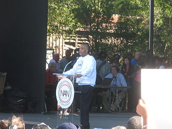 English: Al Sharpton at the National Action Ne...