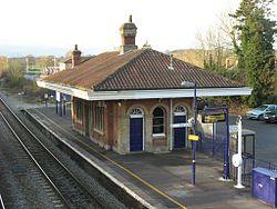 2012 at Mortimer station - up side seen from the footbridge.JPG