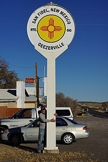 2013, Doug and HIs Beloved San Fidel Sign - panoramio.jpg