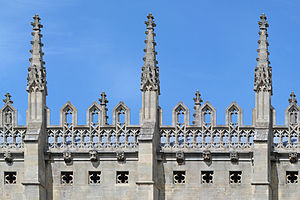 Pinnacle - Pinnacles on King's College Chapel, Cambridge.